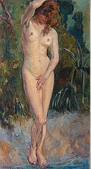 GARIAZZO, Pier Antonio (1878-1963). Nu Huile sur