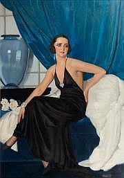 BRAÎTOU-SALA, Albert (1885-1972). Portrait de