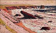 DUVAL-GOZLAN, Léon (1853-1941). Bord de mer Huile