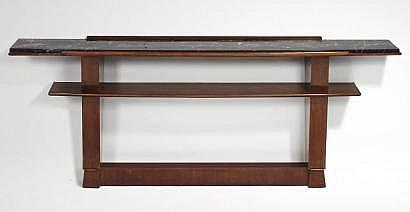 OLD Maxime (1910-1991). Console à double plateau
