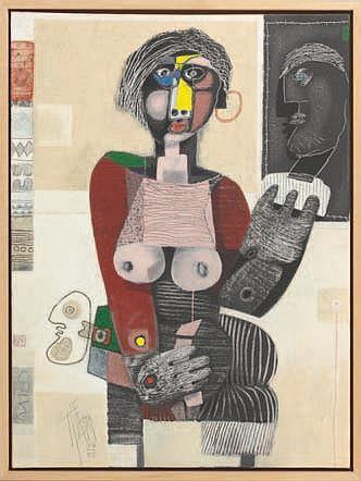 KIEFHABER Christoph (1941) Milo Technique mixte