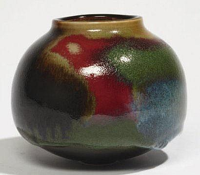 BEN LISA René (1926-1995) Vase pansu en grès