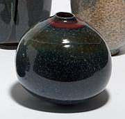 BEN LISA René (1926-1995) Vase piriforme sur petit