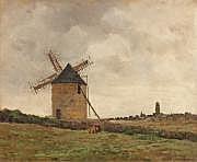 CAGNIART, Émile (1851-1911) Moulin dans la