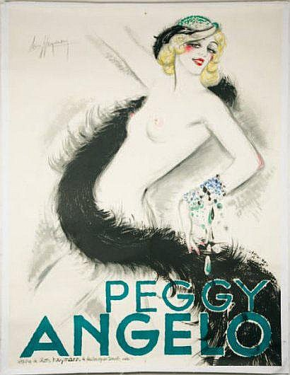 PEGGY ANGELO. Vers 1930 L. HEYMANN Affiches Léon