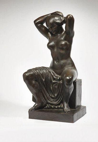 INDENBAUM Léon (1890-1981) Femme à sa coiffure