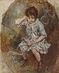 DESBOUTIN Marcellin (1823-1902) Petite fille, Marcellin Gilbert Desboutin, Click for value