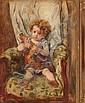 DESBOUTIN Marcellin (1823-1902) Enfant au, Marcellin Gilbert Desboutin, Click for value