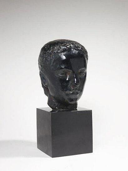 BELMONDO Paul (1898-1982) Tête de jeune fille