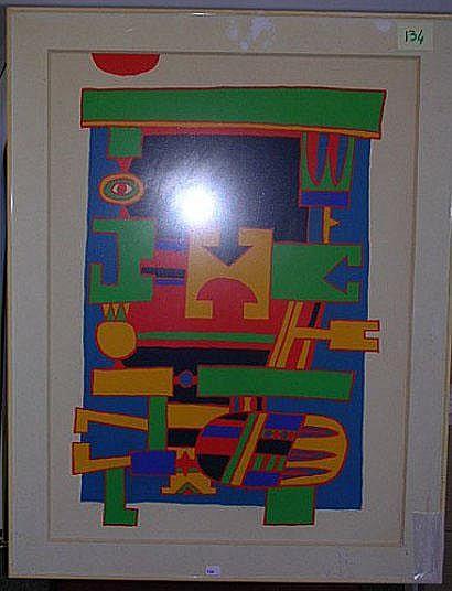 SOISSON Jacques (1928) Nord Ouest Lithographie en