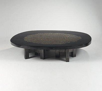 CHALE Ado (1928) Importante table à plateau en