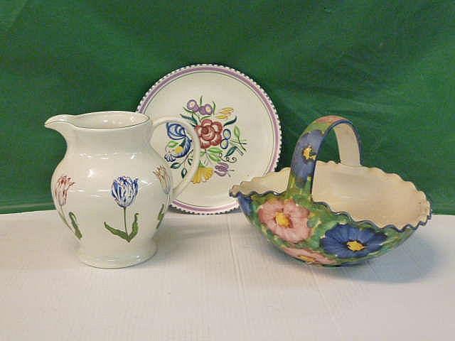 Poole Pottery Plate Tiffany Tulip Vase Flowered