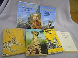 "A feast of seven Joy Adamson BOOKS, ""Born Free - A"