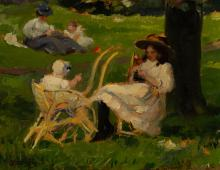 Jules Bastien-LePage - Morning in Kensington Garden