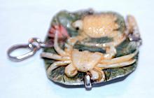 Custom estate bone pendant