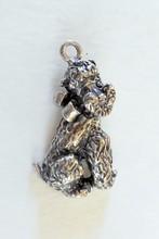 Sterling poodle dog pendant
