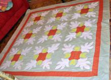Antique Quilt Handmade Oak Leaf