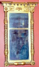 Antique Federal Mirror Gilt Gesso Frame