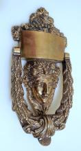 Vintage brass door knocker/Helen of Troy