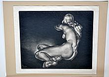Reynold Weidenaar original mezzotint - signed