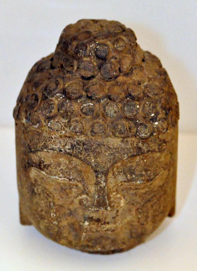 Buddha stone head carved
