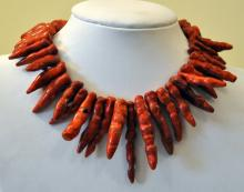 Coral red pepper strand
