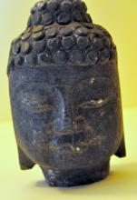 Buddha stone carved bust