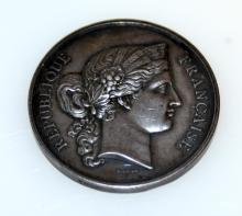 French Republic bronze medal/Barre
