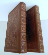 Leather books/Audubon birds