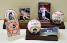 Baseballs/Ripken, McGwire, Mattingly
