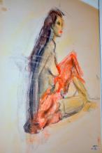 Signed vintage sketch/Klein