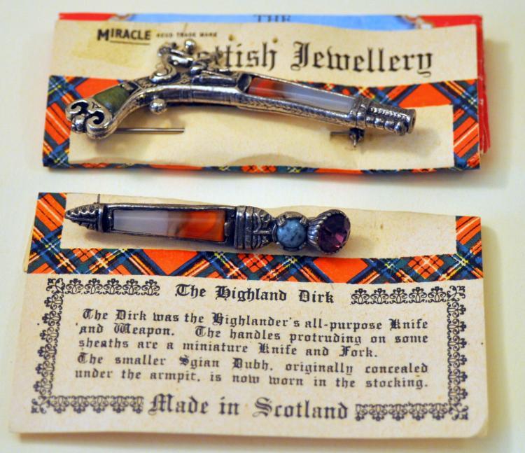 Scottish jewelry dirk pistol