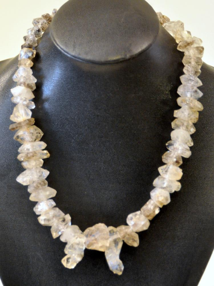 Herkimer diamond necklace 580 carats