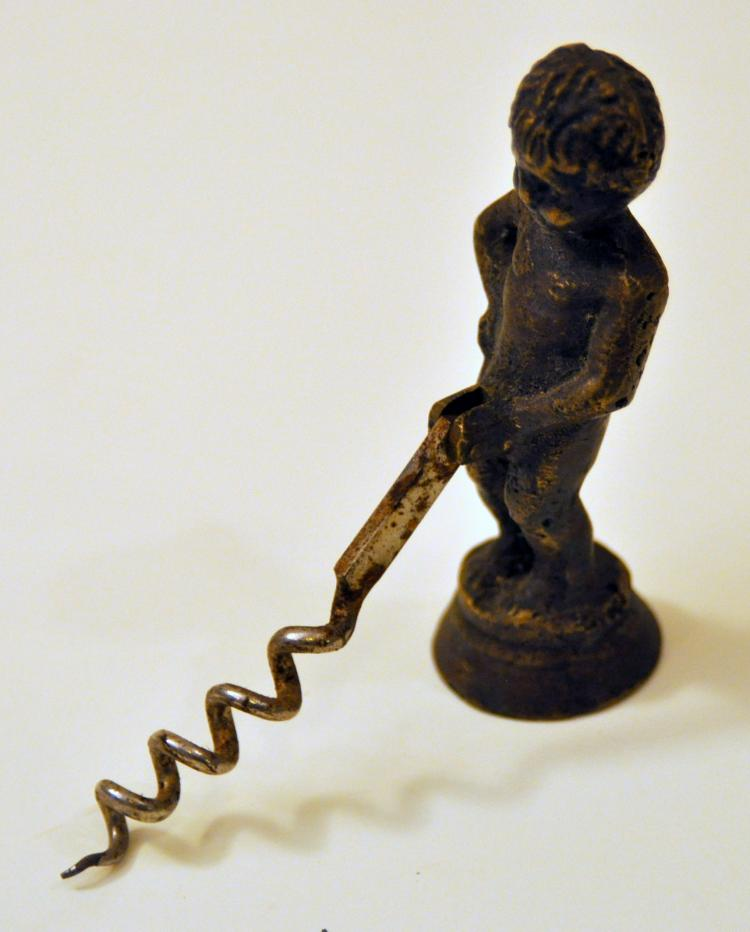Bronze vintage corkscrew boy