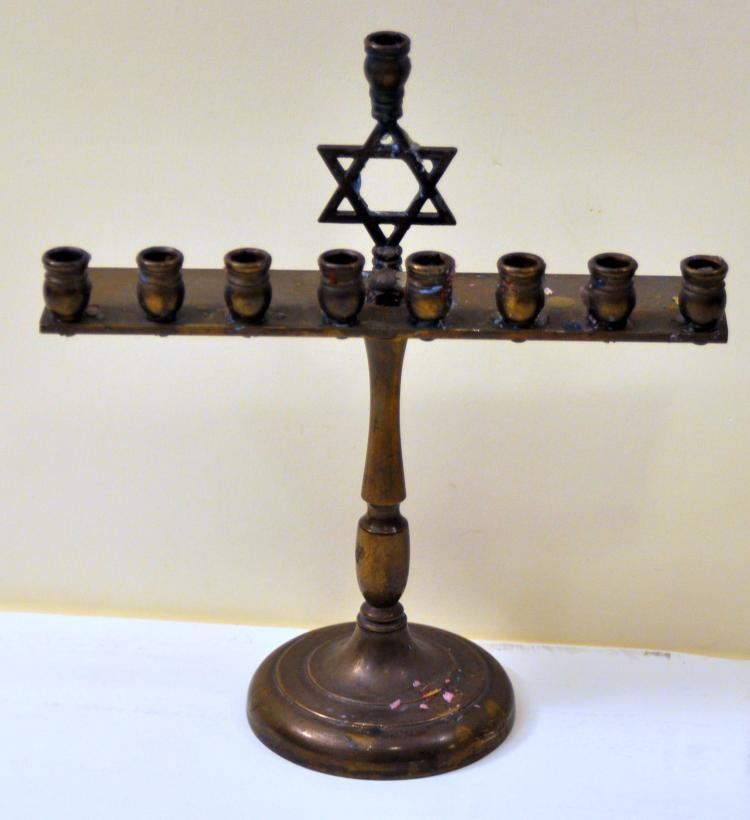 Hebraic  Hannukah vintage menorah