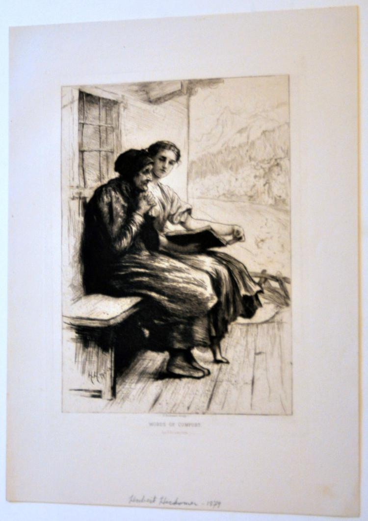Hubert Herkomer 1879 etching