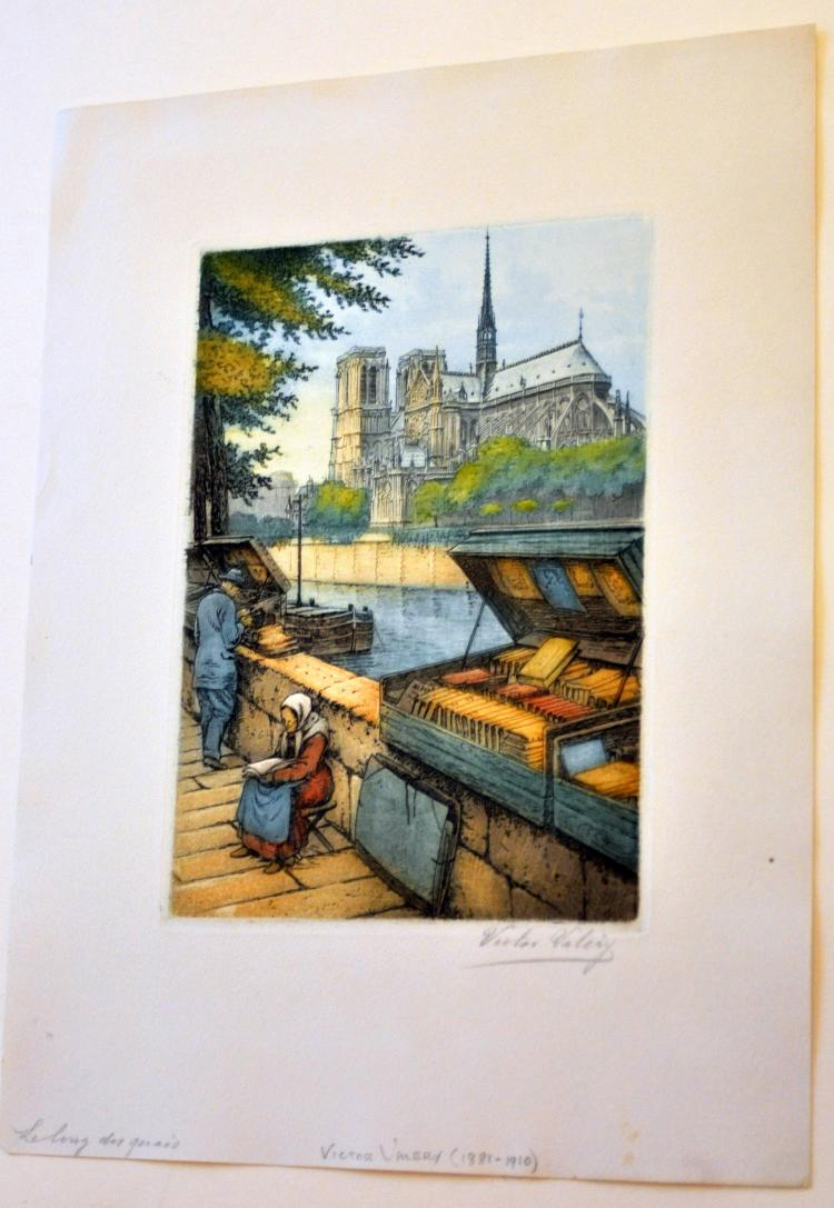 Notre Dame Victor Valery etching