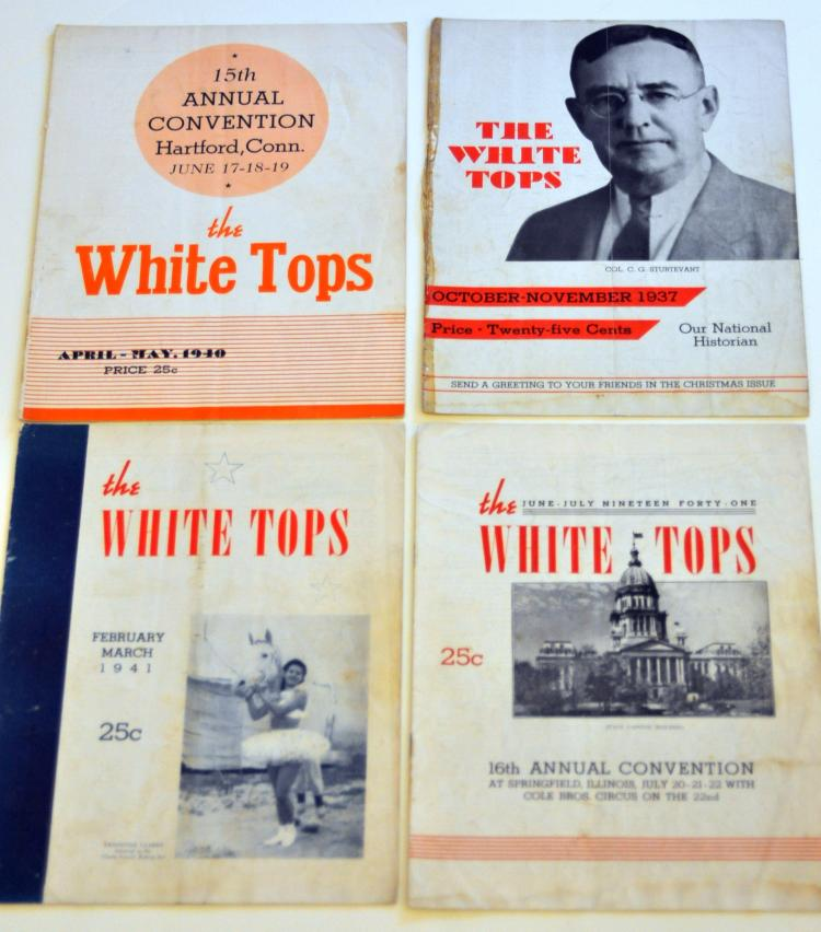 White Top Circus magazines 30's