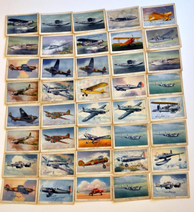 WWII airplane cigarette cards