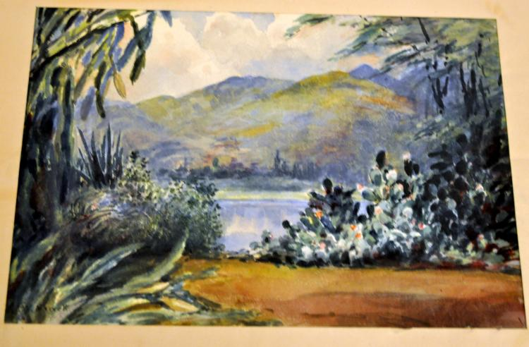 Hawaii watercolor Marvell 1927