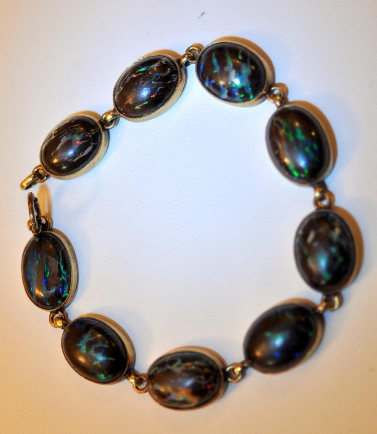 14k boulder opal bracelet