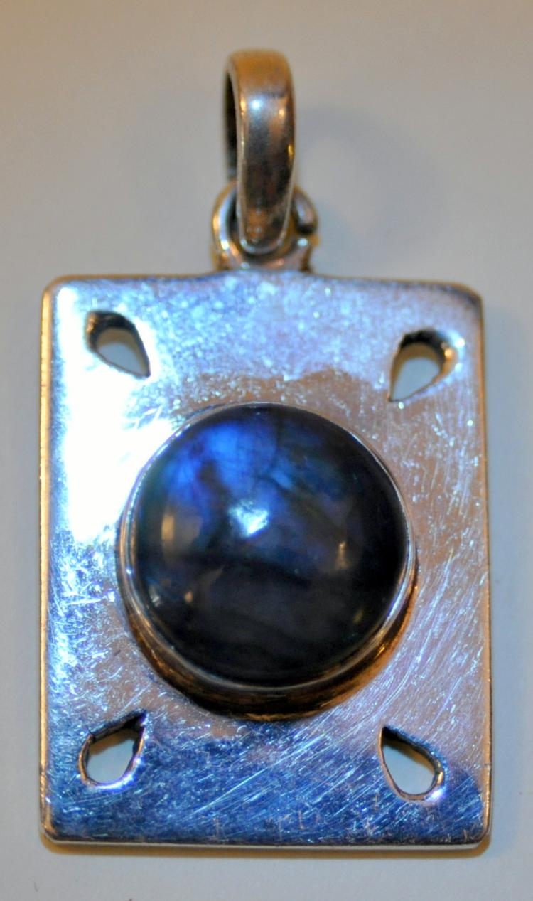 Sterling labradorite custom pendant