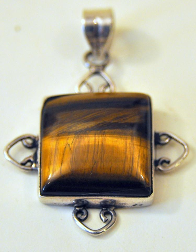 Sterling tiger eye pendant