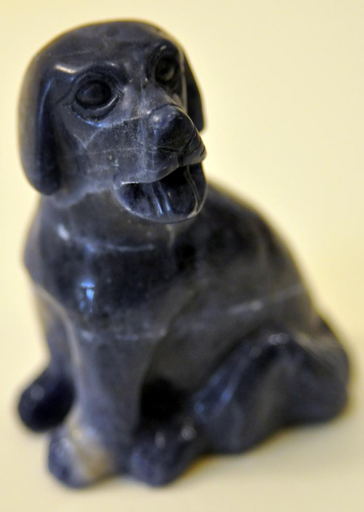 Lapis carved dog labrador