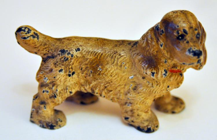 Hubley spaniel paperweight iron