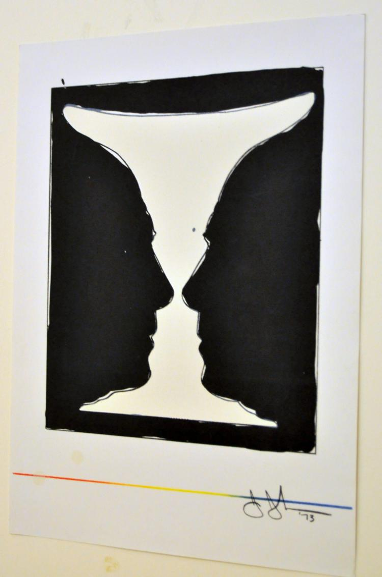 Jasper Johns litho 2 cup Picasso