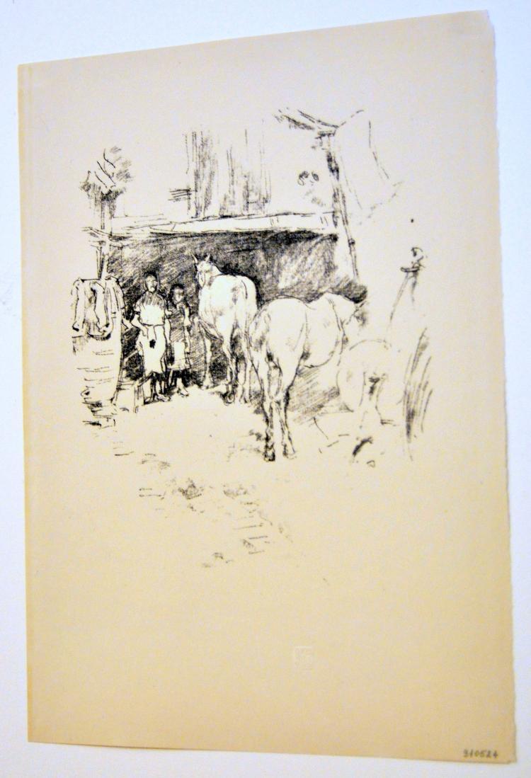Litho  Whistler signed stone