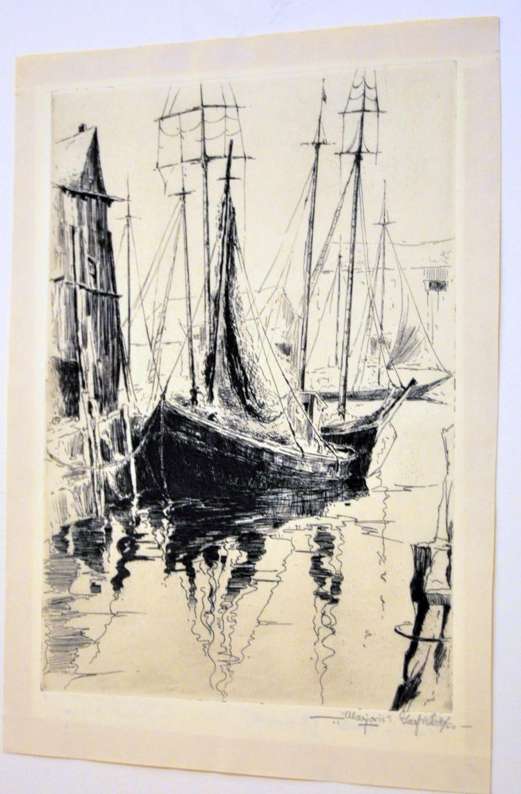 Etching Marjorie Garfield Rockport