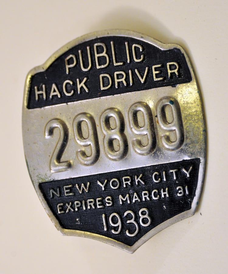 1938 NYC public hack tage