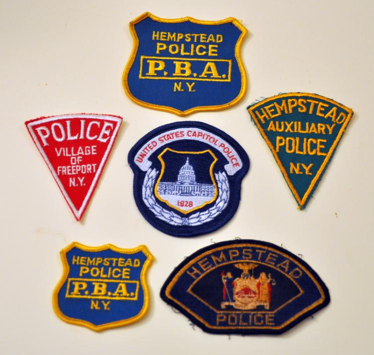 Police patch collection vintage
